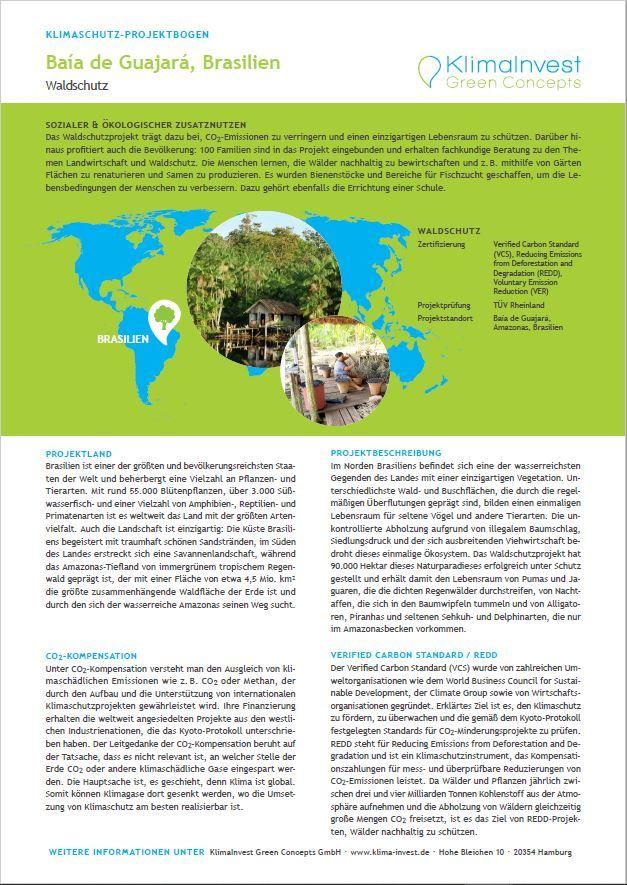 Der Waldschutz dient dazu, CO2 durch Photosynthese im Holz zu binden.
